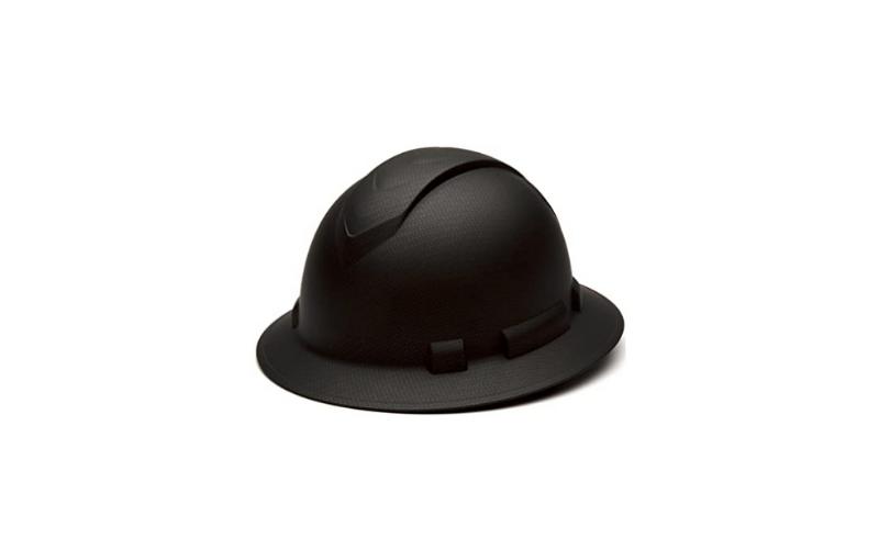 pyramex-ridgeline-full-brim-hard-hat-4-point-ratchet-suspension-matte-black-graphite-pattern