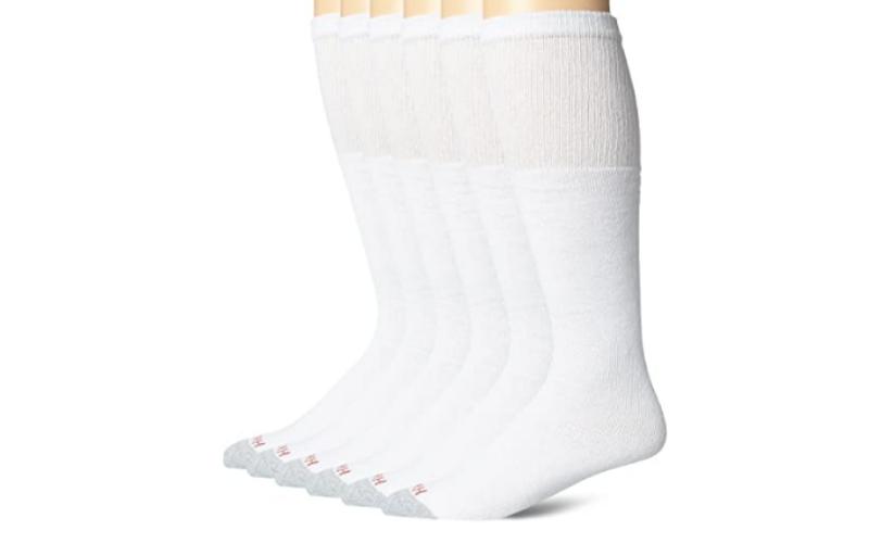 Hanes-men's-white-cushioned-tube-over-the-calf-work-socks