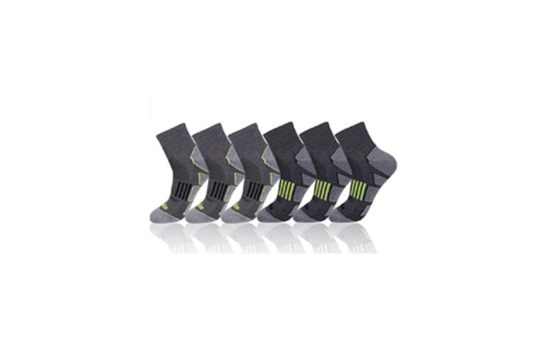 JOYNÉE-mens-6-pack-athletic-performance-cushion-ankle-running-quarter-socks